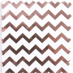 Napkin with Gold Foil Chevron Pattern