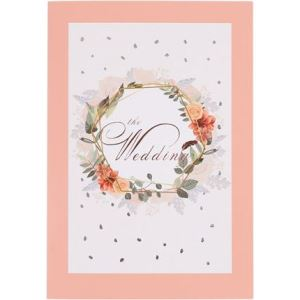 Rose Gold Greeting Card with Flowers Garland